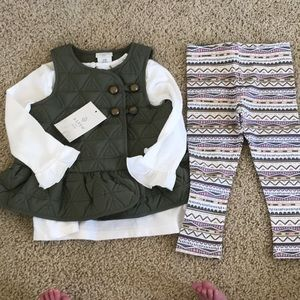 NWT! 3-Piece Set with Vest, shirt and leggings
